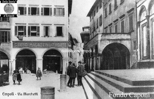 Fondo Caponi Empoli, Vol 1 Pagina 10:  Vedute Di Piazza Dei Leoni, Canto Guelfo E Via Salvagnoli.