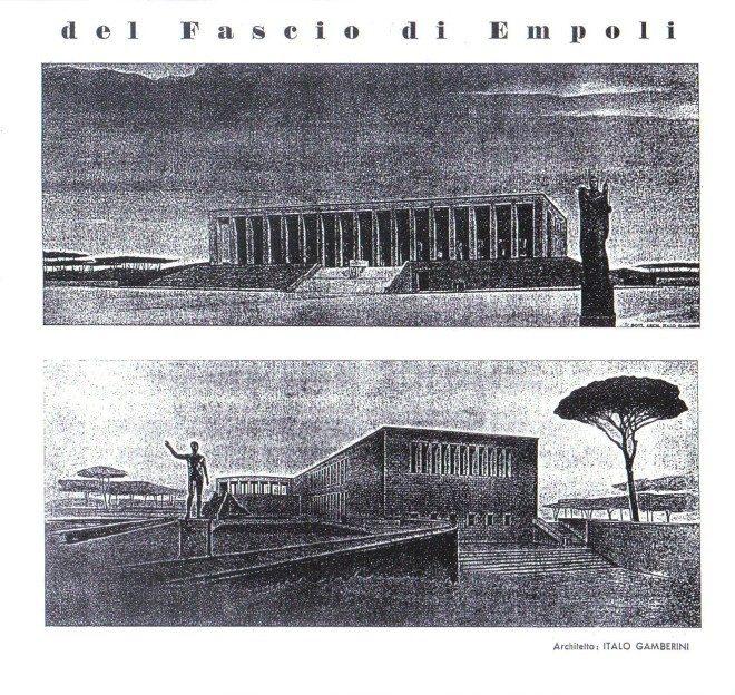 Empoli - Progetto casa del fascio 1939 2