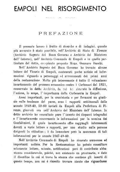Empoli Nel Risorgimento: Estratto Dalla Miscellanea Storica Della Valdelsa N. 133/1937