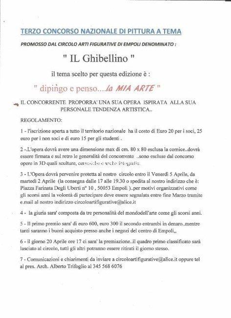 """Terzo Concorso Nazionale Di Pittura A Tema """" Il Ghibellino """""""