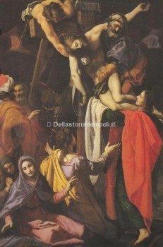 La tavola di Lodovico Cardi detto il Cigoli, ancora custodita nell'oratorio della Compagnia della Croce, prima di essere portato via da il gran Principe Ferdinando de' Medici alla fine del 1600