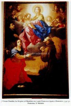 7) Cesare Dandini, La Vergine col Bambino tra i santi Francesco Agata e Domenico, 1640-50. Pontorme, S. Michele.