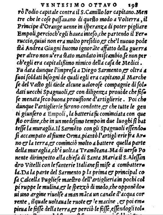 L'assedio Di Empoli Del 1530, Cronica Storica Del Mons. Paolo Giovio Scritta Nel 1554 – Di Carlo Pagliai