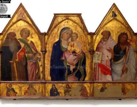 Agnolo Gaddi trittico con madonna con bambino