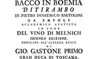 Bacco in Boemia. Ditirampo di Pietro Domenico Bartoloni, stampato nel 1736
