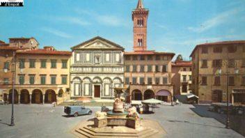 Fondo Pietro Caponi: Empoli volume II, pag. 38: Collegiata, Piazza dei Leoni e la Fontana senza colonnini