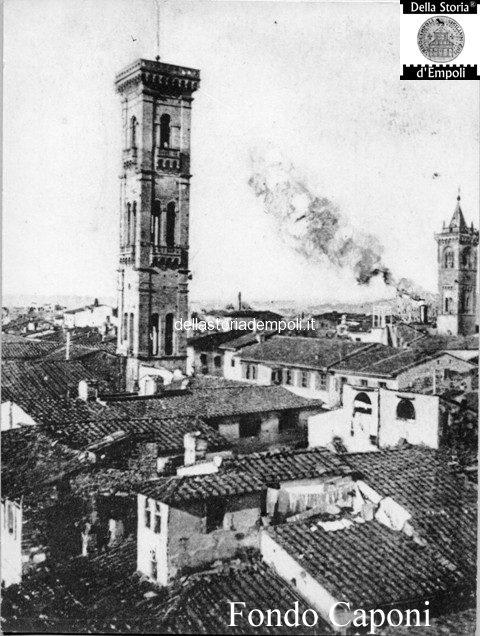 Campanile di S. Agostino visto da est e quartiere ebraico