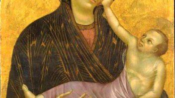 Cimabue (e Giotto ?), Madonna col Bambino – Museo S. Verdiana, Castelfiorentino