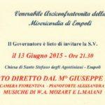 S. Agostino, 13 Giugno  21.30: concerto di M° Giuseppe Lanzetta