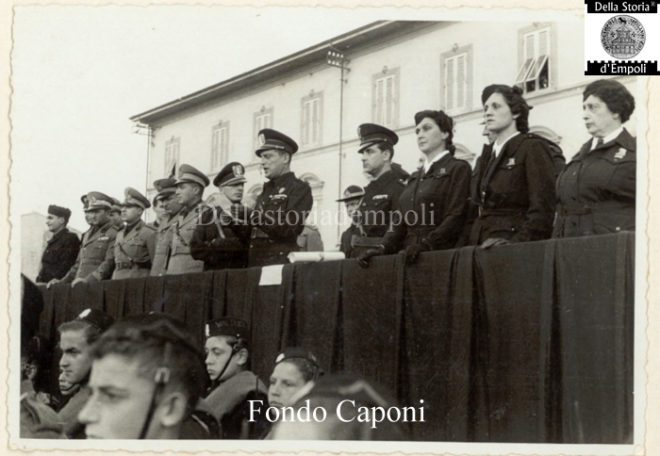 Empoli - Adunata fascista in Piazza XXVIII Ottobre oggi Piazza Gramsci