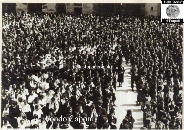 Empoli - Adunata fascista in Piazza del Littorio oggi Piazza del Popolo 2
