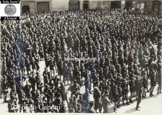 Empoli - Adunata fascista in Piazza del Littorio oggi Piazza del Popolo 3