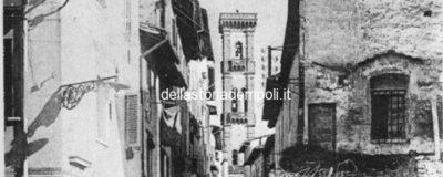 Empoli – Campanile di S. Agostino e via de' Neri visti da via Leonardo da Vinci