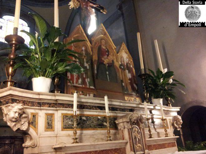 Empoli - Collegiata altare con trittico Lorenzo di Bicci 29-04-2014 (2)