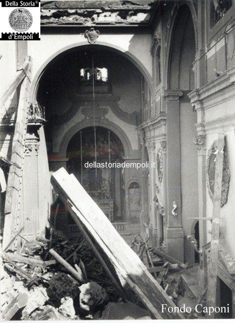 Transetto danneggiato dal crollo del campanile