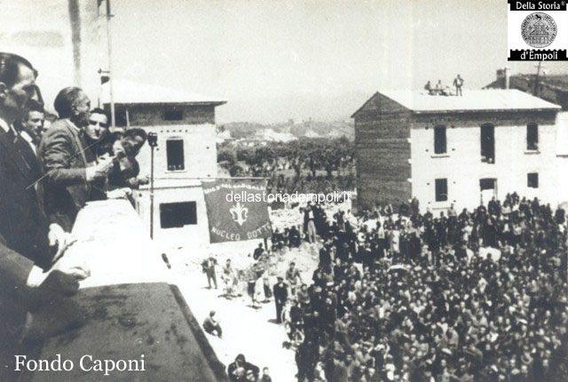 Empoli - Comizi elettorali Terracini in Piazza Gramsci