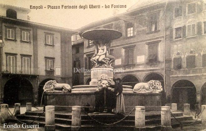 Empoli - Fontana del Pampaloni Piazza dei Leoni Palazzo Ghibellino