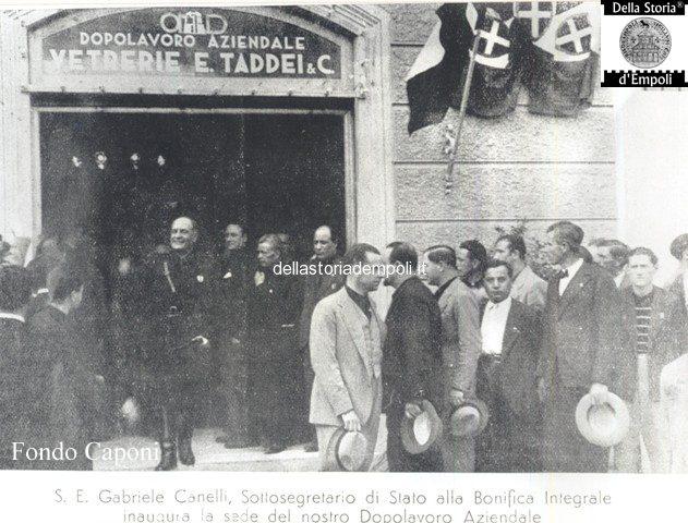 Inaugurazione Dopolavoro Vetreria Taddei dal sottosegretario Gabriele Canelli