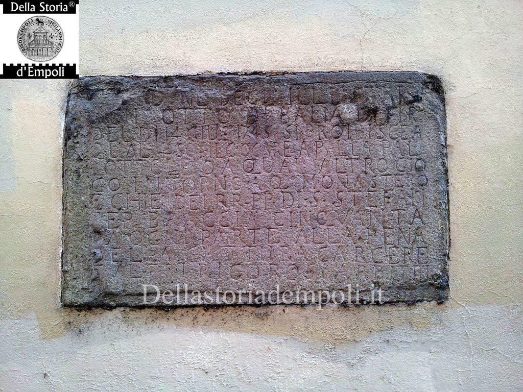 Iscrizione. Foto Di C. Pagliai