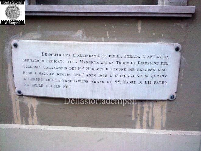Empoli - Madonna della Tosse Via Carrucci iscrizione 2011-09-05