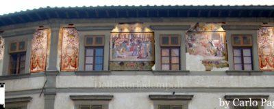 Palazzo Ghibellino con affreschi: fotosimulazione di Carlo Pagliai