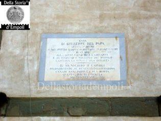 Iscrizione dedicata a Giuseppe Del Papa