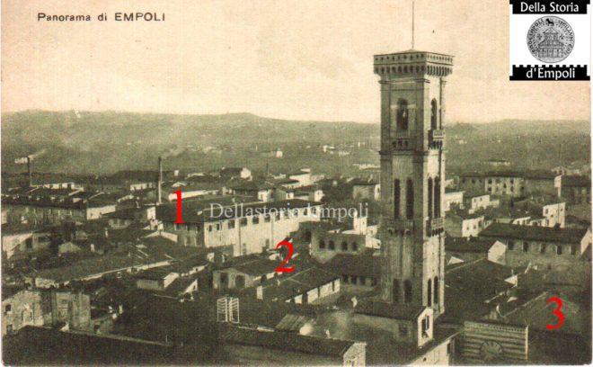 Empoli - Panorama e campinile S. Agostino collezione Maestrelli da Empoli e Storia 2