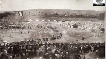 Parata militare sul Piaggione, primi del Novecento