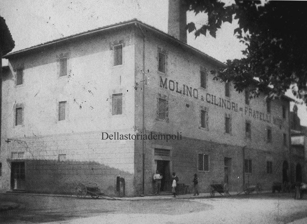 Empoli - Piazza Matteotti Mulino a Rulli fratelli Mori dal  Naldi