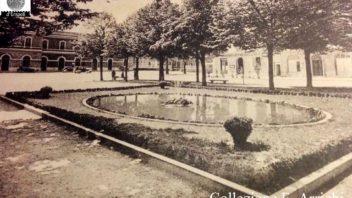 Collezione Franco Arrighi: Piazza della Stazione e il laghetto