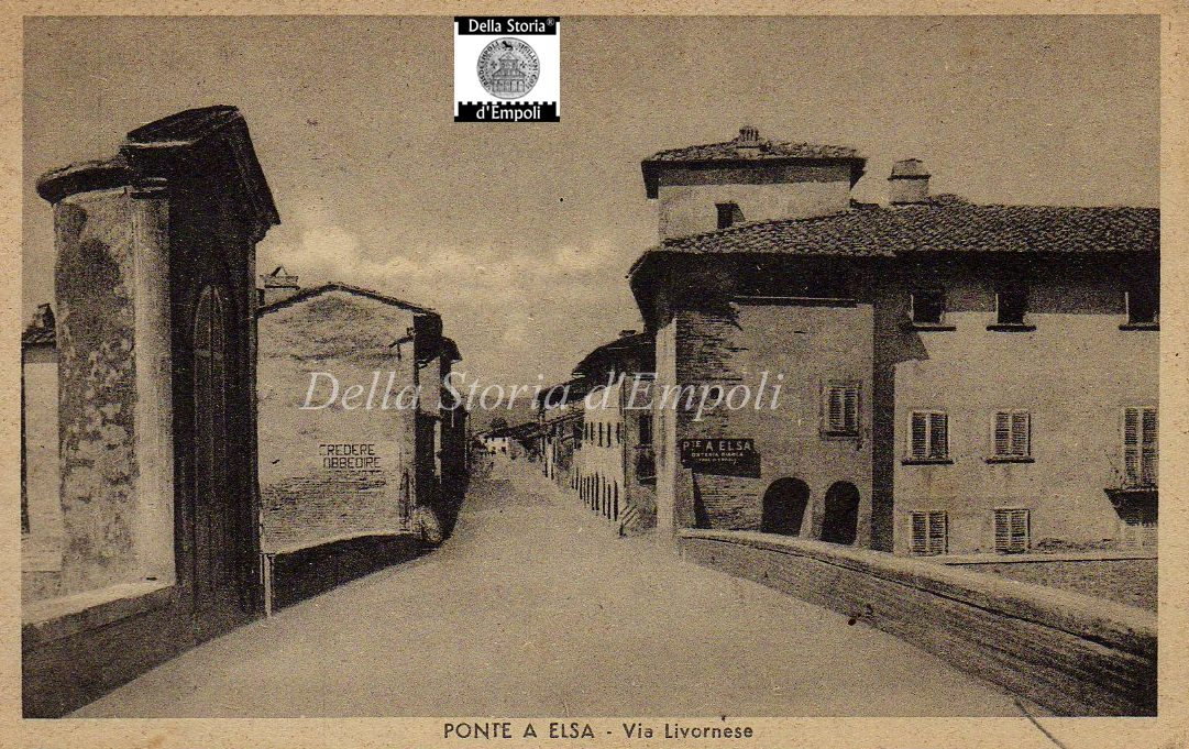 Empoli – Ponte Sul Fiume Elsa Durante Il Fascismo
