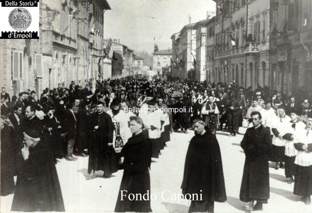 Empoli - Processione funebre Via Roma