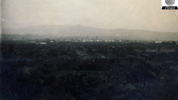 La piana di Empoli vista dalle colline di Corniola tanti anni fa
