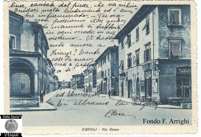 Empoli - Via Roma incrocio Piazza della Vittoria viaggiata 1937