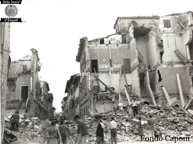 Empoli – Via Salvagnoli incrocio via Ridolfi danni bellici