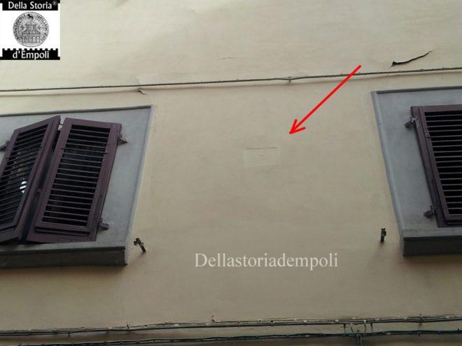 Empoli - Via de Neri 7 iscrizione anno 1661 Pogni