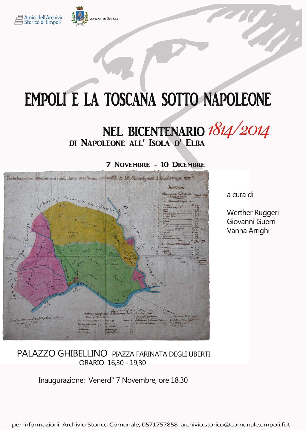 Empoli E La Toscana Sotto Napoleone: Ven 07 Novembre Al Palazzo Ghibellino