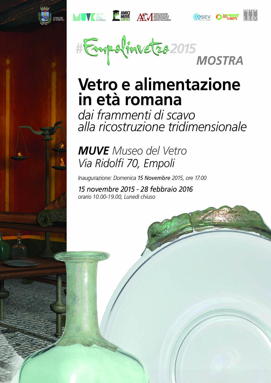 Vetro E Alimentazione In Età Romana – Muve 15 Novembre