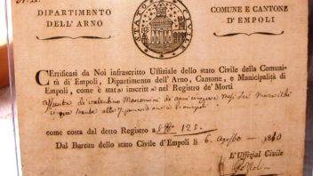 In margine alla Empoli napoleonica e non solo – di Claudio Biscarini
