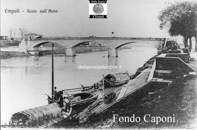 Empoli scalo sull'Arno e ponte vecchio