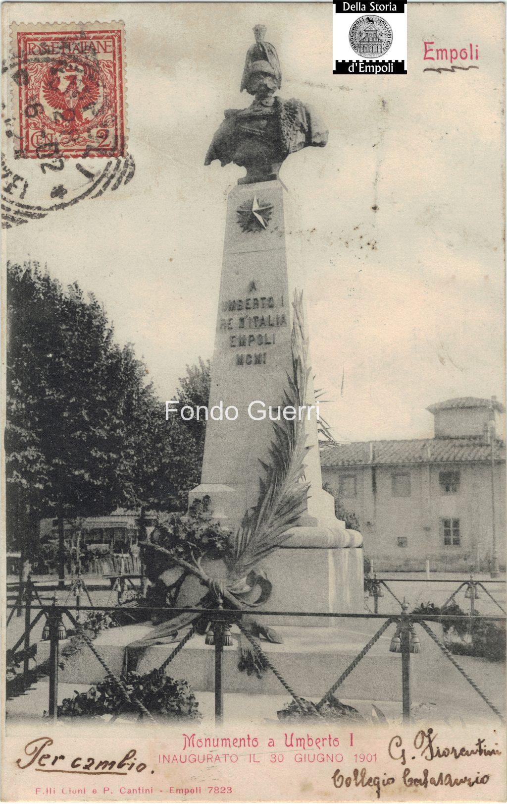 30 Giugno Del 1901, Si Inaugura Il Monumento A Re Umberto I…