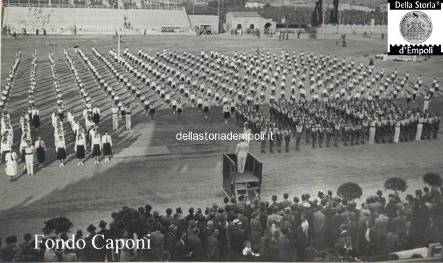 Esercizi ginnici allo Stadio Martelli e la Mostra delle attività empolesi 1939