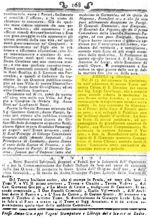 [documento]: 1793, Ottobre 15: Ripristinata La Chiesa Di San Donnino