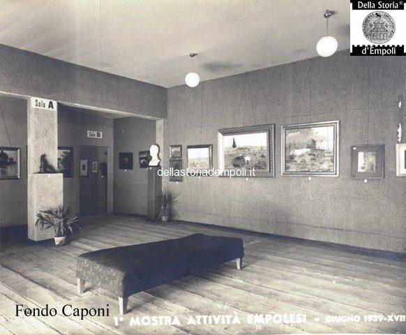 Galleria d'arte alla Mostra attività empolesi allo stadio Martelli