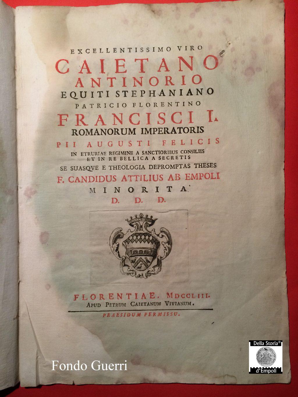 De Legibus, Di Fra' Candido Attilio Bargellini, Frate Di Santa Maria A Ripa, 1753