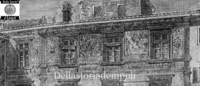 Incisione Palazzo Ghibellino ingrandimento
