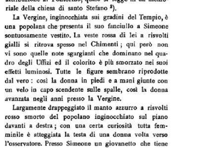 La Presentazione Al Tempio, Perduta, Raccontata Dal Giglioli