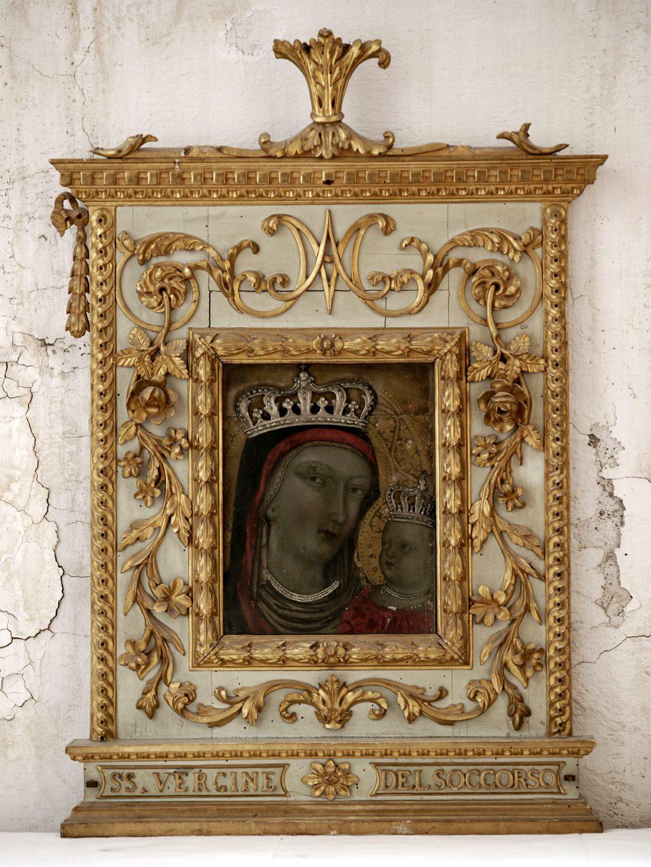 Madonna col Bambino -Conservatorio SS.Annunziata nella sua collocazione seicentesca
