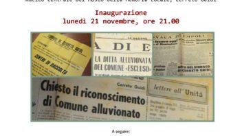 """Giovedì 24 novembre, ore 21.15, Museo della Memoria Locale: Carlo Pagliai """"Tempi di ritorno alluvionale e assetto del territorio cerretese"""""""