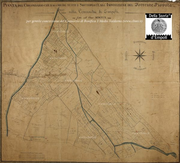 Mappa N 18 Imposizione Torrente Piovola 1810